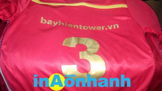 in áo bóng đá, in áo thun thể thao - khách hàng: Bayhien Tower