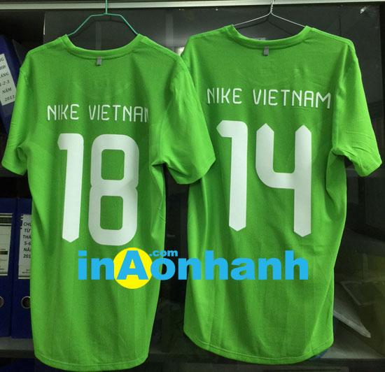 in áo bóng đá, in áo thun thể thao - khách hàng: Nike Vietnam