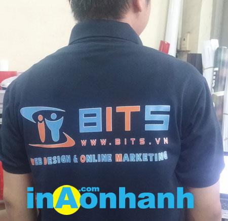 in áo thun quảng cáo lấy liền nhãn hiệu BITS