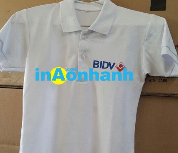 áo thun in cho ngân hàng BIDV