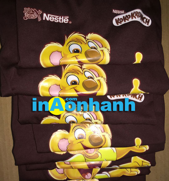 in áo đồng phục cho Nestle