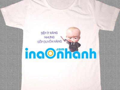 In chữ lên áo thun gia đình: Đẹp, Giá rẻ, Nhanh, Bền