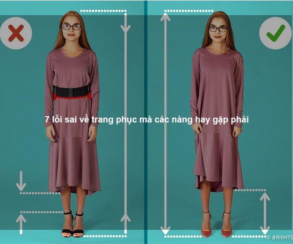 7 lỗi sai về trang phục mà các nàng hay gặp phải