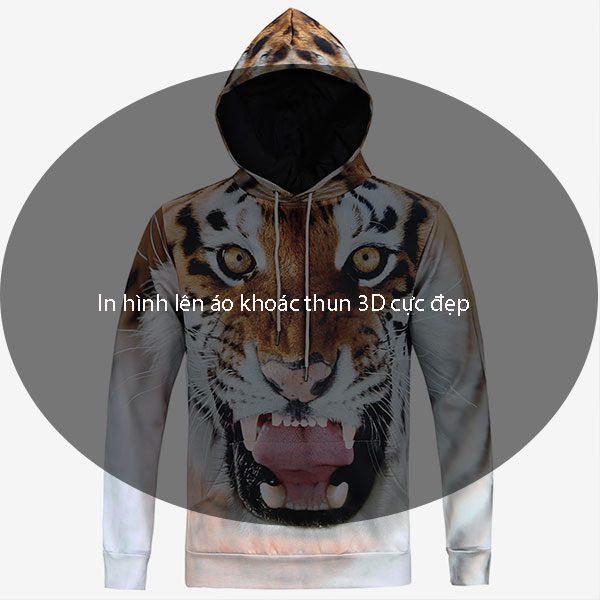 In hình lên áo khoác thun 3D cực đẹp